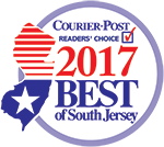 Certificate for Courier Post 2017 BEST of South Jersey