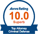 Certificate for AVVO Rating 10 Superb Top Attorney