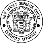 Certificate for New Jersey Supreme Court Certified Attorney